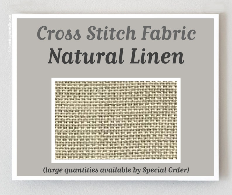 NATURAL RAW 45/46 ct. Bristol Linen counted cross stitch image 0