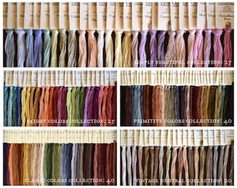 Coming Soon! FREE GIFT w/purchase CLASSiC COLORWoRKS Starter Packs hand-dyed embroidery floss thread primitive classic neutral bright