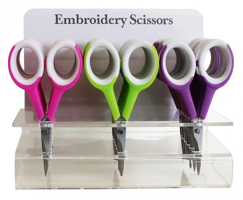 Pick One 4-1/4 Two-tone Embroidery Scissors ciseaux de image 0