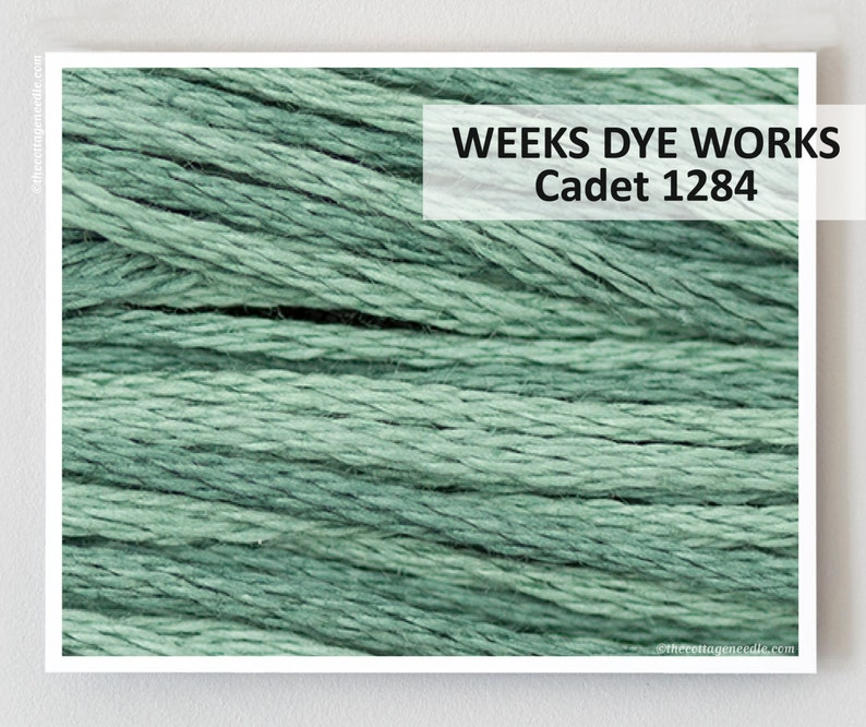 CADET 1284 Weeks Dye Works WDW hand-dyed embroidery floss cross stitch  thread at thecottageneedle com