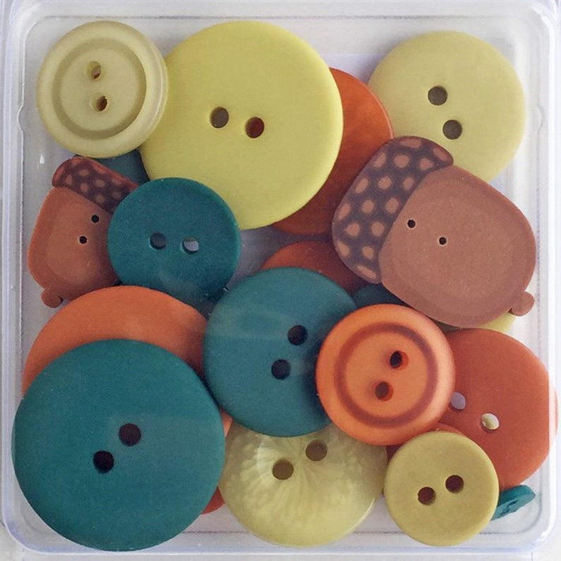 24 Autumn Leaves Flavor Button Pack by Just Another Button image 0