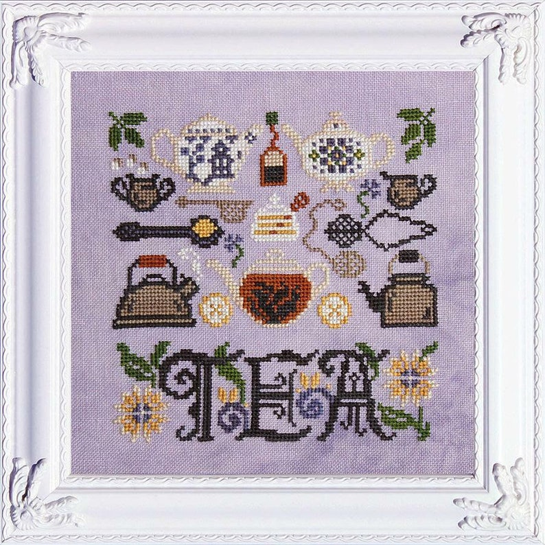 NEW INK CIRCLES Tea Time counted cross stitch patterns at image 0