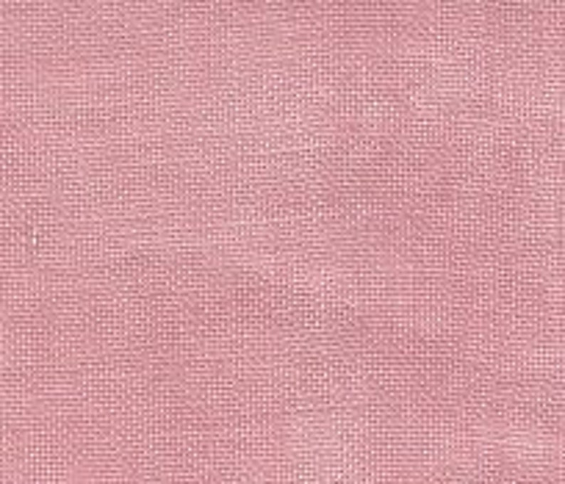 hand-dyed cross stitch fabric linen by Weeks Dye Works at thecottageneedle.com count CHARLOTTE/'S PINK 32 ct