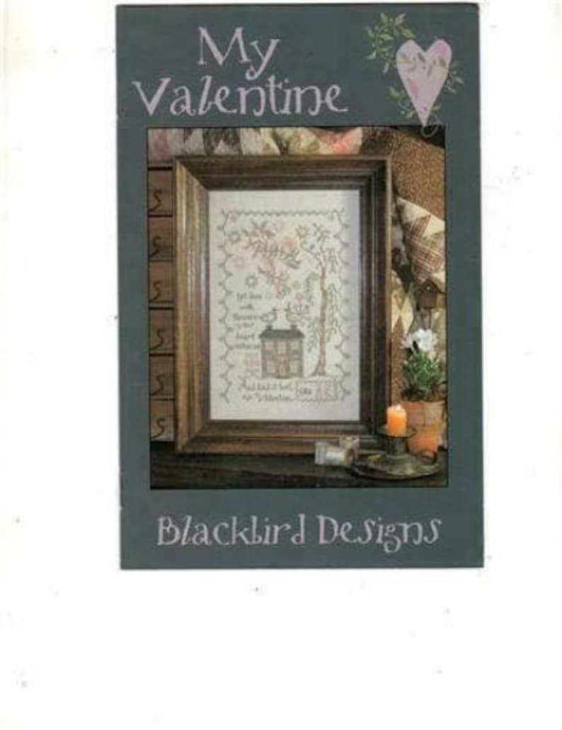 2 Charts BLACKBIRD DESIGNS My Valentine AND Frosty's Night image 0