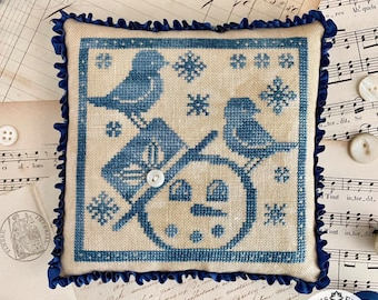 Ships Wk. of 10/31! New! LUMINOUS FIBER ARTS Gathering Snowflakes counted cross stitch patterns at thecottageneedle.com