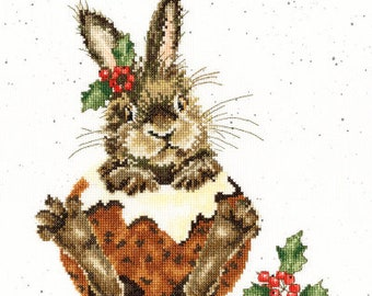 New! BOTHY THREADS Christmas Pudding Kit Includes Fabric Threads Needle counted cross stitch patterns at thecottageneedle.com