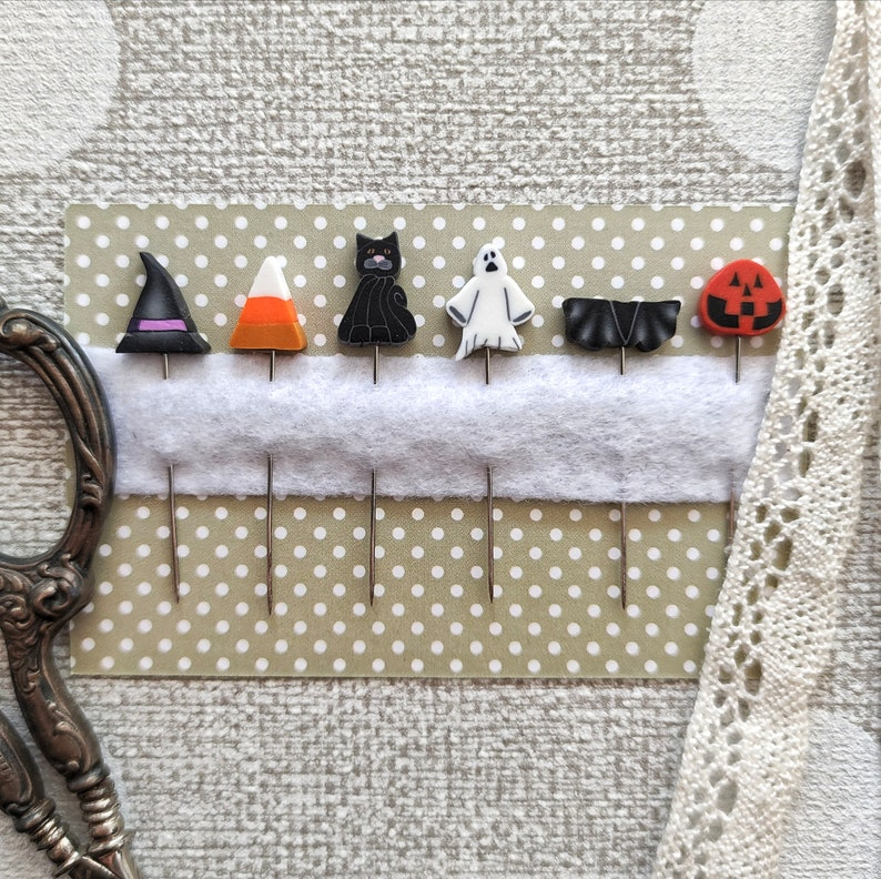 NEW PUNTINIPUNTINI Halloween Trio Set of 6 Mini-Counting Pins image 0