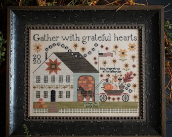 New! PLUM STREET SAMPLERS Gather Inn counted cross stitch patterns thecottageneedle.com