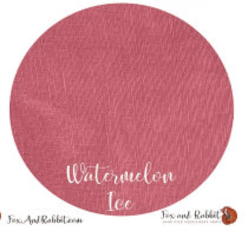 Pre Order New WATERMELON ICE 36 ct. Linen hand-dyed counted image 0