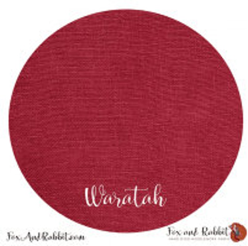Pre Order New WARATAH 36 ct. Linen hand-dyed counted cross image 0