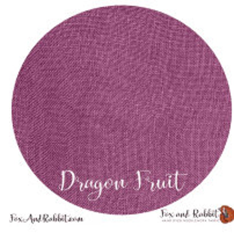 Pre Order New DRAGON FRUIT 36 ct. Linen hand-dyed counted image 0