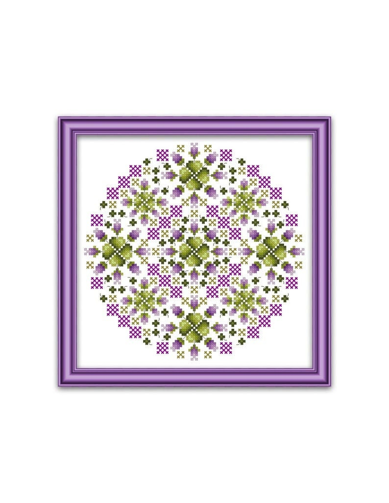 PDF DOWNLOAD March Cats and Mandalas digital counted cross stitch patterns by Kitty /& Me at thecottageneedle.com
