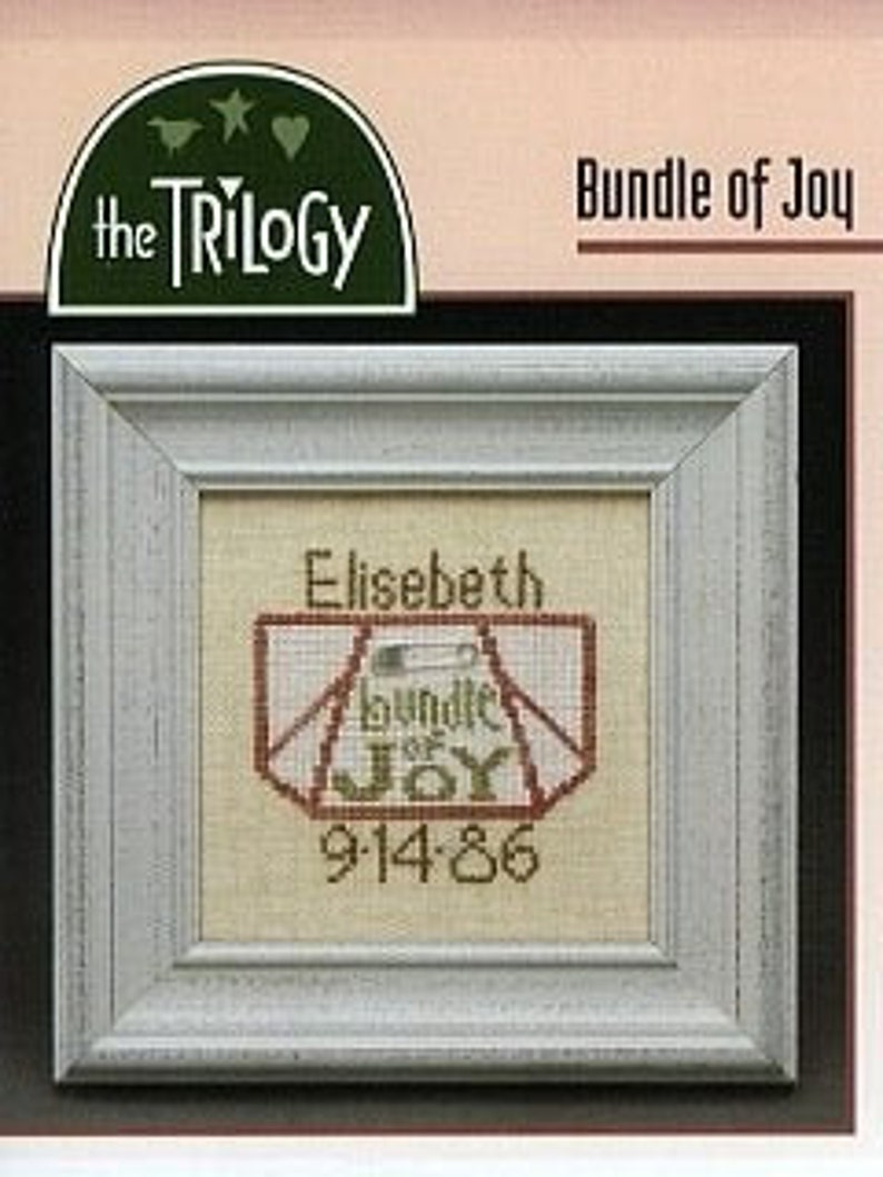 OOP THE TRILOGY Bundle Of Joy counted cross stitch patterns image 0