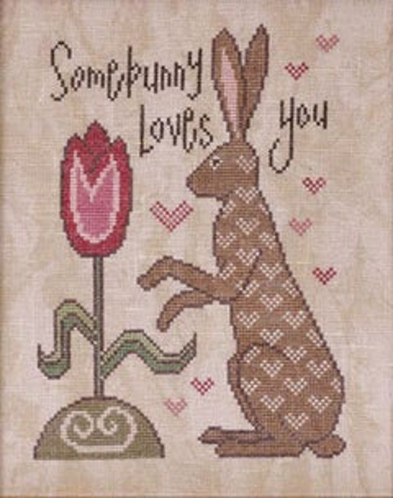 New COTTAGE GARDEN SAMPLINGS Somebunny Loves You counted image 0