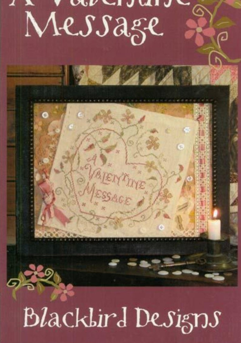 2 Charts BLACKBIRD DESIGNS Valentine Message AND Frosty's image 0