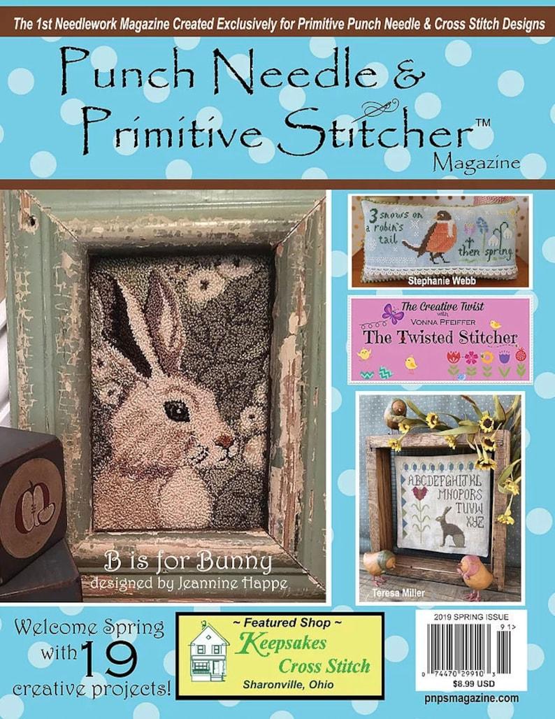 Punch Needle & Primitive Stitcher 2019 Spring issue magazine image 0