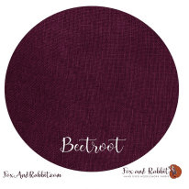 Pre Order New BEETROOT 36 ct. Linen hand-dyed counted cross image 0