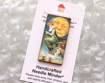 Pick One Needle Minder magnet cross stitch hand embroidery tool vintage look Halloween