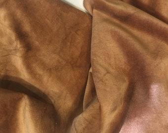 "POTATO hand-dyed Velveteen 100% Cotton approx. 18"" x 10"" Lady Dot Creates Finishing fabric"