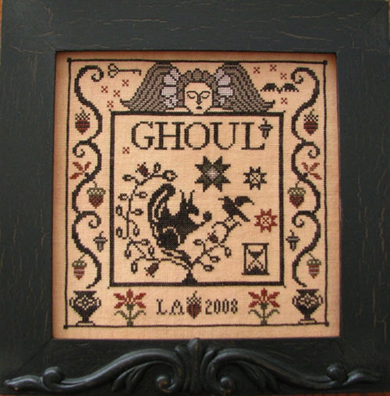 PLUM STREET SAMPLERS Ghoul Halloween counted cross stitch image 0