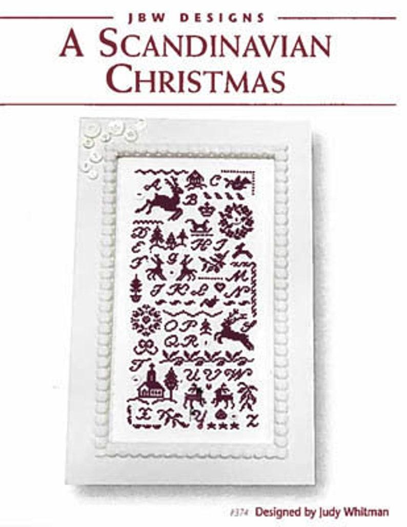 NEW JBW DESIGNS Scandinavian Christmas counted cross stitch image 0