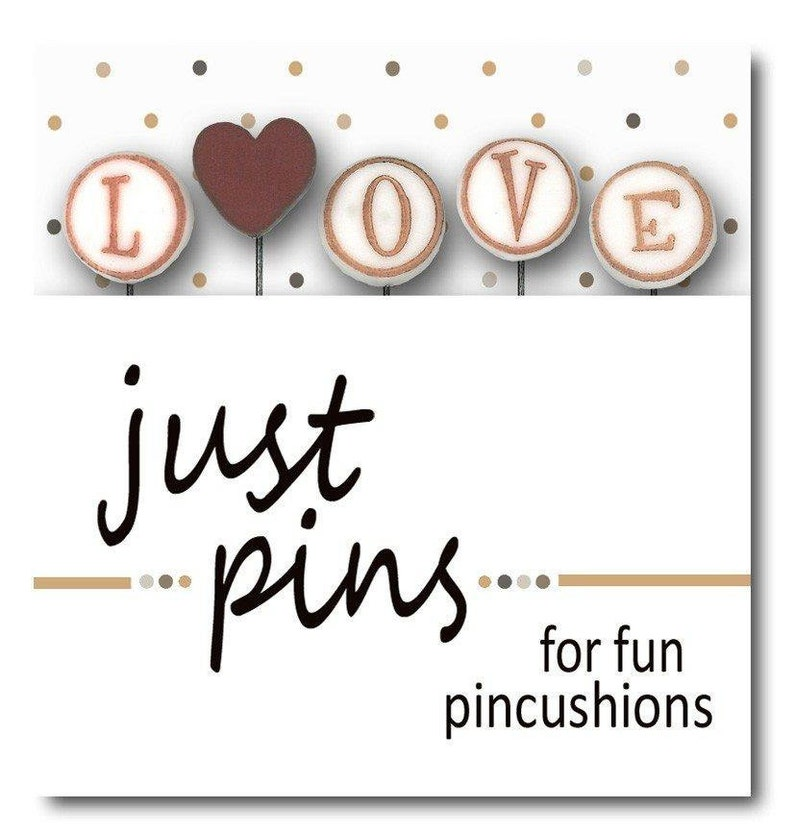 JUST ANOTHER BUTTON Co. L is for Love jp146 Just Pins 5-pc. image 0