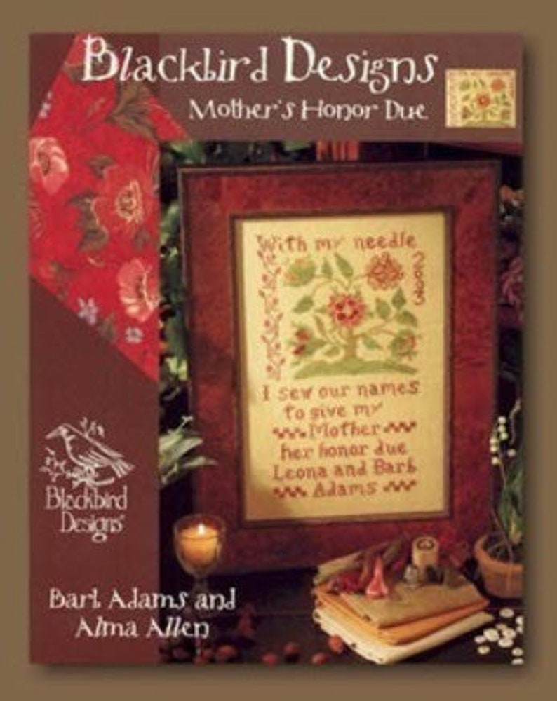 2 Charts BLACKBIRD DESIGNS Mother's Honor Due AND image 0