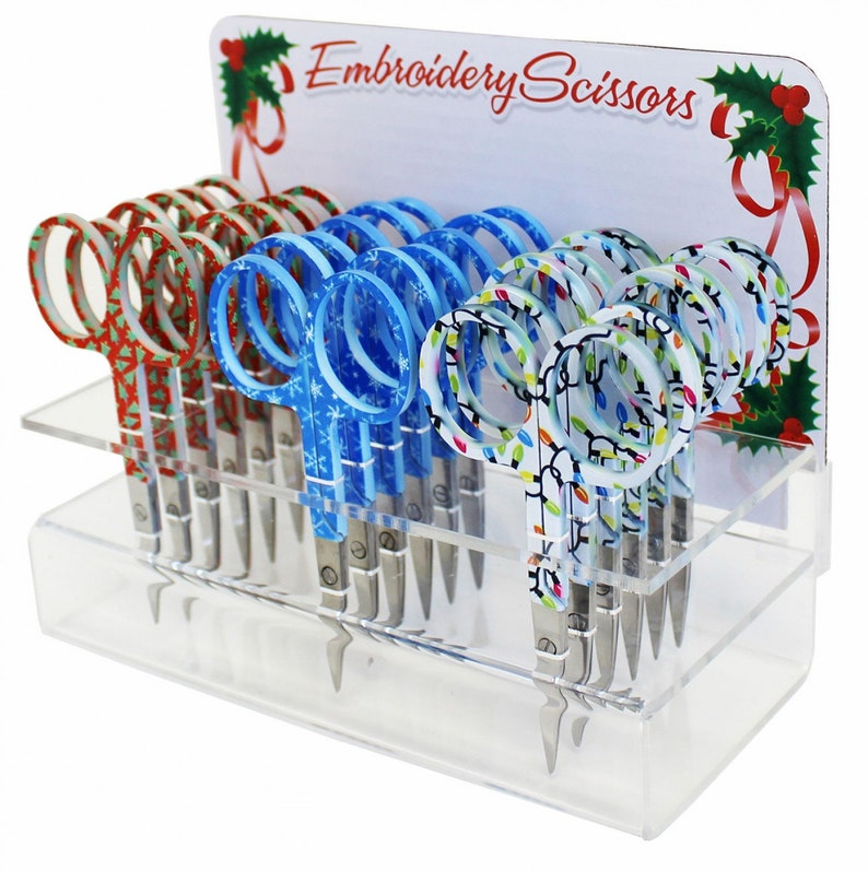 Pick One 3-3/4 Holiday Embroidery Scissors at image 0