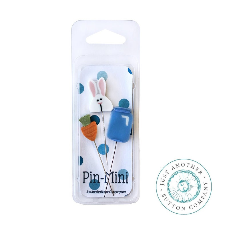 New 3-pc. Pin-Mini Set JUST ANOTHER BUTTON COMPaNY Very Bunny image 0
