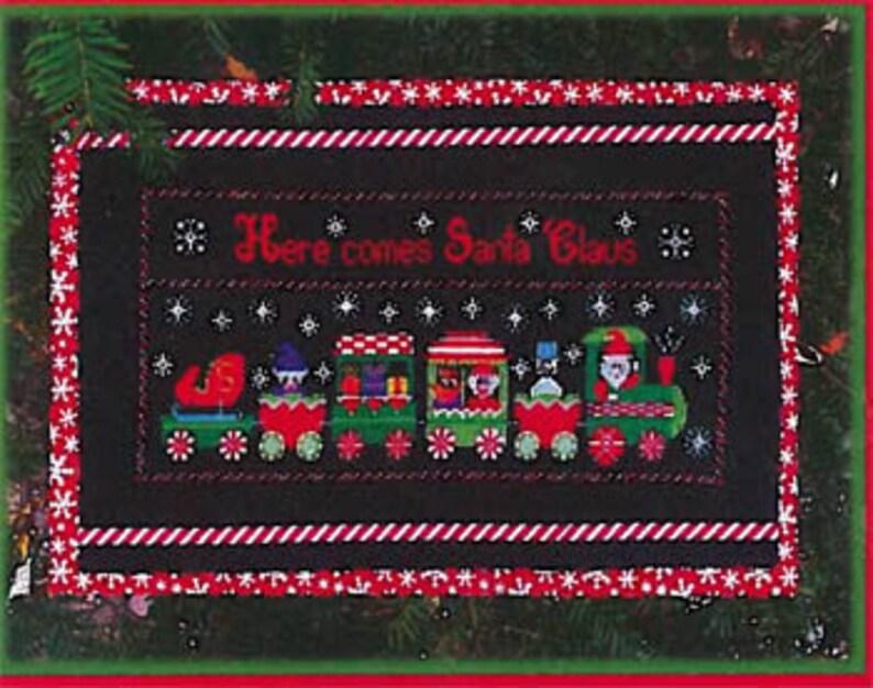 NEW PICKLE BARREL DESiGNS Santa's Express Train counted image 0