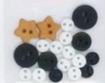 SPECIAL PURCHASE!!! JuST ANOTHeR BUTToN CoMPANY Bertie's Autumn Button Pack ONLY #ATNBAEES4 at thecottageneedle.com