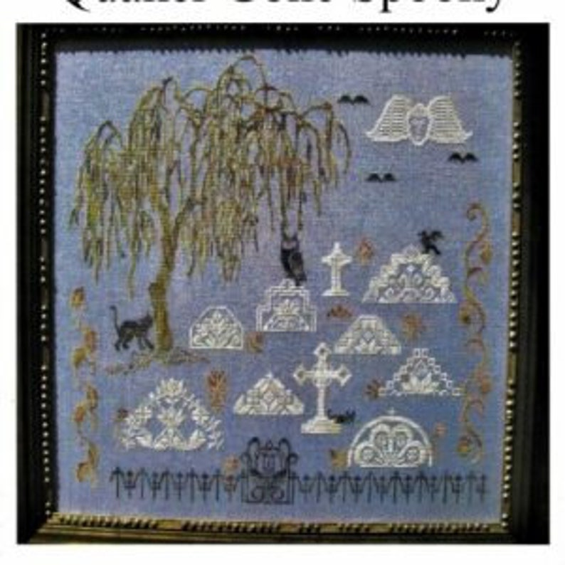 PDF DOWNLOAD Quaker Gone Spooky digital counted cross stitch image 0