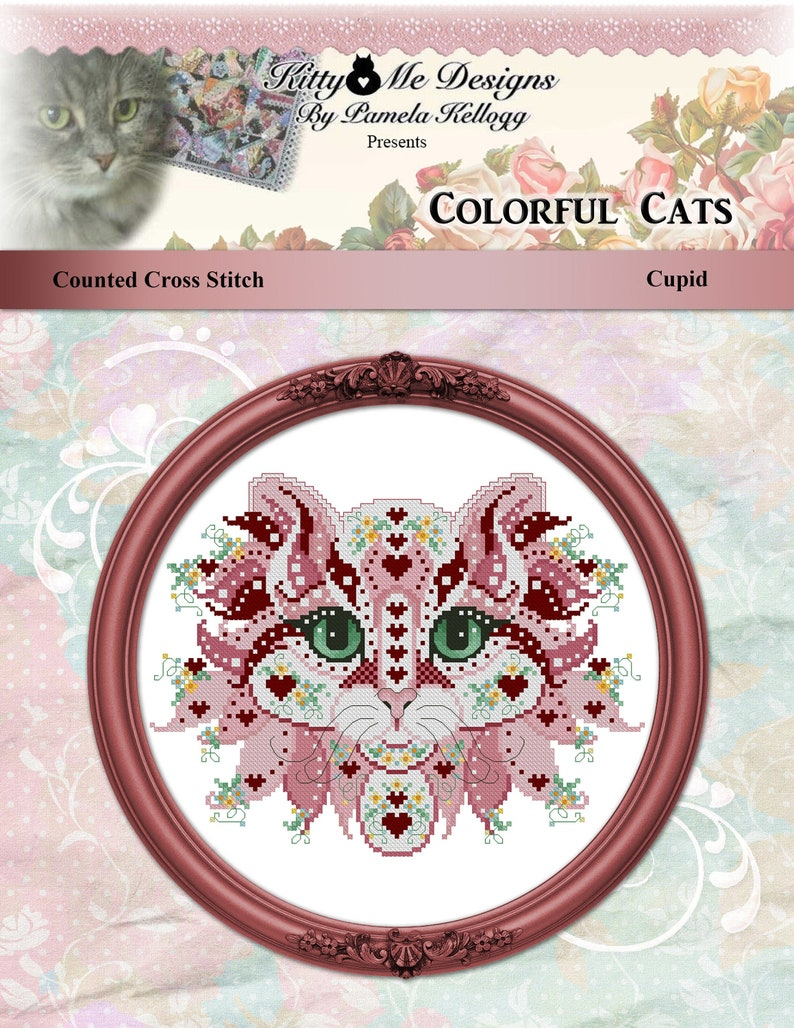 PDF DOWNLOAD Cupid digital counted cross stitch patterns by Kitty /& Me at thecottageneedle.com