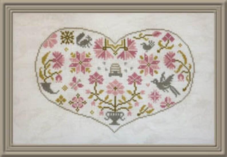JARDIN PRIVÉ Qua-Coeur counted cross stitch patterns at image 0