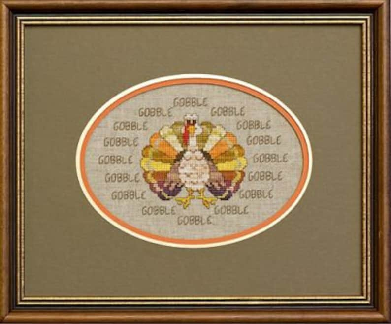 GLENDON PLACE Sixteen Gobbles counted cross stitch patterns at image 0
