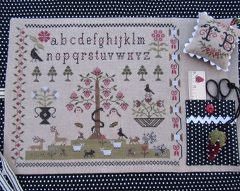 SCARLETT HOUSe In The Berry Beginning counted cross stitch patterns at thecottageneedle.com