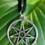 Elven Star or Fairy Star Necklace, Seven Pointed Star Septagram from Game of Thrones,  Wiccan Necklace for Hedge Witch