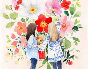 Best Friends Art - Sisters Art