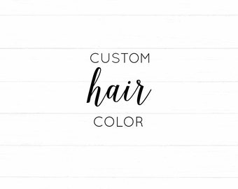 CHANGE Hair Color on an Art Print -- * Add On *