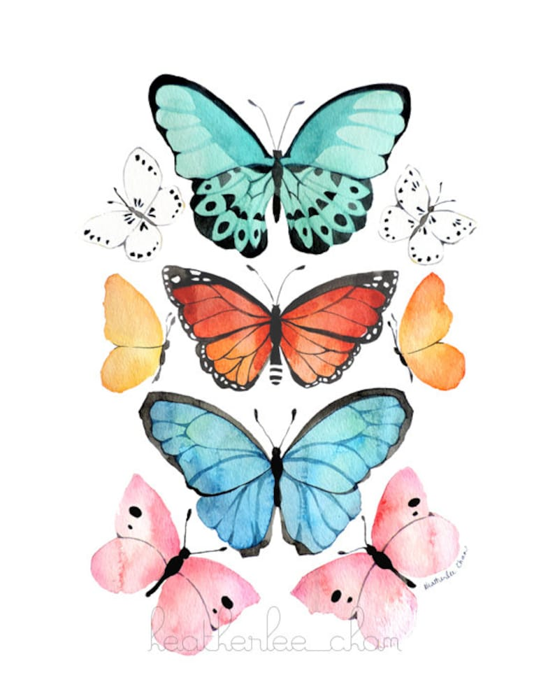 Butterfly Watercolor  Art  Painting Print image 0