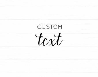 ADD Text to an Art Print -- * Add On *