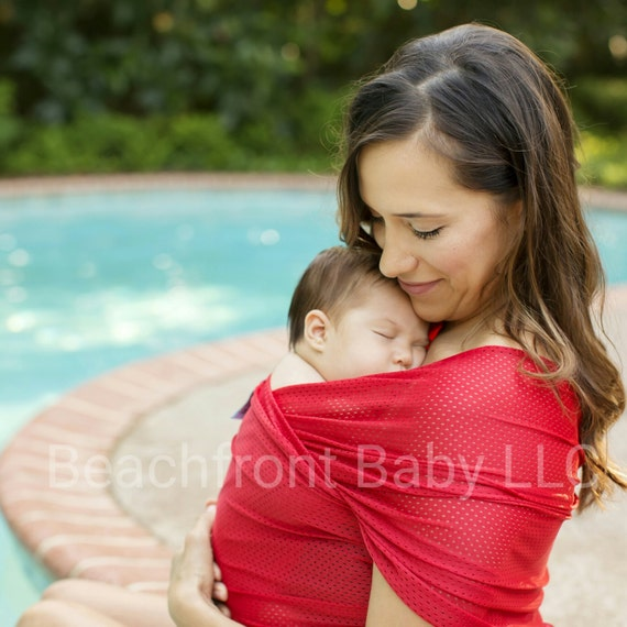 Usa Made Beachfront Baby Wrap Carrier Safe Water Babywearing Etsy