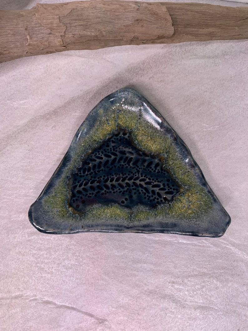 Blue and Yellow Geode Ring Dish