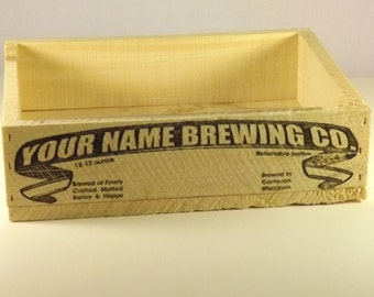 Beer Crate, Personalized, Vintage Style