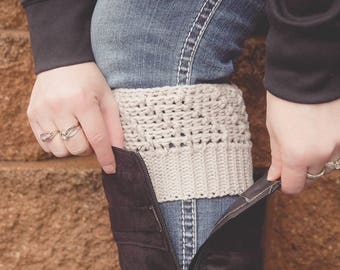 Crochet Pattern for Cascading Ridges Boot Cuffs - Any Size - Welcome to sell finished items