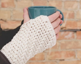 Crochet Pattern for Cascading Ridges Fingerless Gloves - Any Size - Welcome to sell finished items