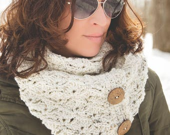 Crochet Pattern for Summit Cowl - Any Size - Welcome to sell finished items