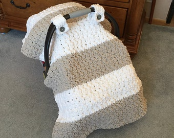 5d045b3d6d6 Crochet Pattern for Chunky Star Stitch Car Seat Canopy Cover - Welcome to  sell finished items