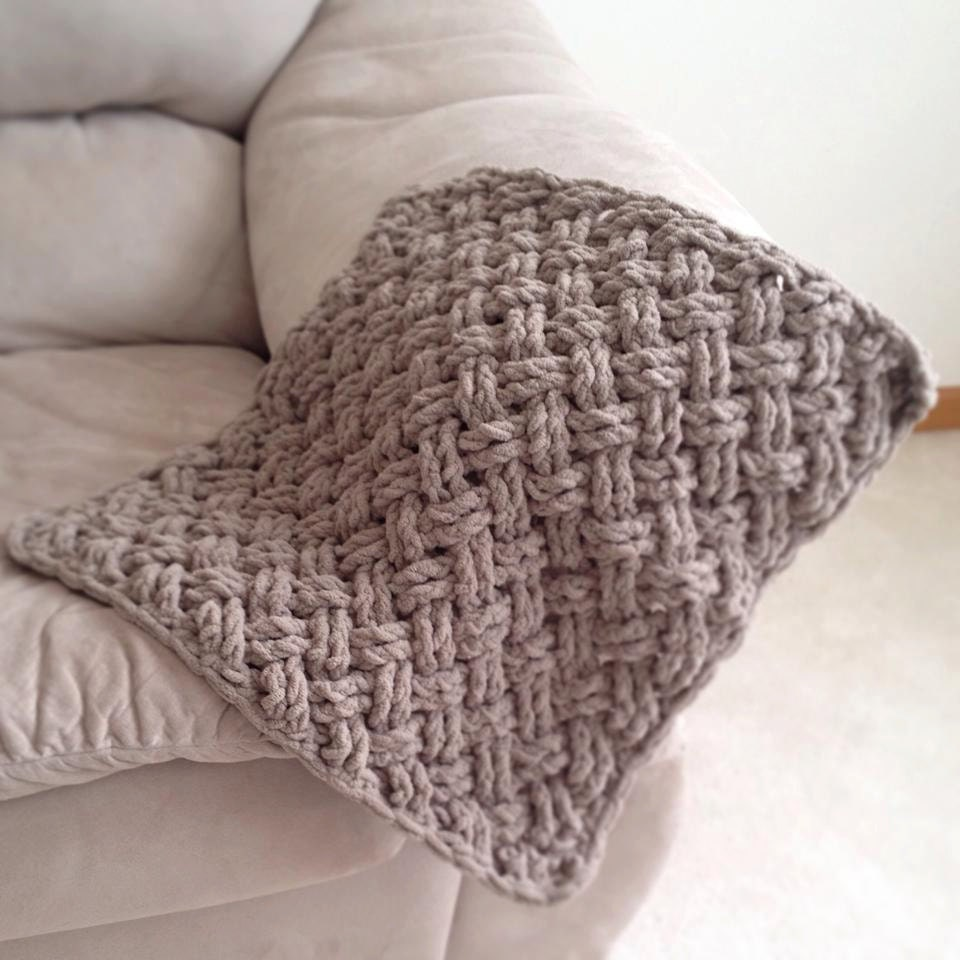 Crochet Pattern For Diagonal Weave Blanket Any Size Etsy