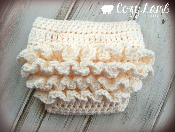Crochet Pattern For Ruffle Bum Baby Diaper Cover 3 Sizes Etsy